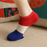 1 Pair Fashion Hot Sale Flag Pattern Men Socks Comfortable Cotton Ankle Socks Countries Flag Design Casual Short Socks