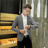 2017 New Mens Blazer Spring Fashion Suits For Men Top Quality Blazers Slim Fit Jacket Outwear Coat Homme Formal Suit Blazer Men