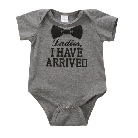 0-12M Newborn Baby Kids Boys Girls Cotton Letter Print Romper Bodysuit Jumpsuit Clothes Outfit Sets S2