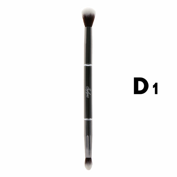 2017 New Arrivals Sylyne Makeup Brushes 100% Metal Double-ended Blending Eyeshadow Eyebrow Eye Concealer Make Up Brushes Holder.