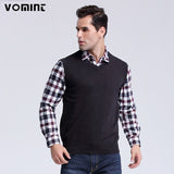 2017  Fashion Style  Men's Vest V-Neck  Sweaters 100% Cotton Knitted Sweater Pullover Hot Sale Plus Size : M-3XL S6AW003