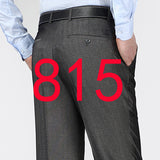 2017 New Arrival Summer Thin Dress Pants Silk Classical Anti Wrinkle Straight Trousers fashion High Quality Men's Suit Pants