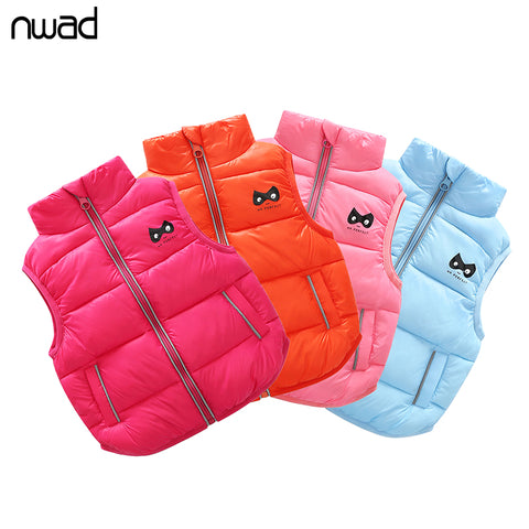 NWAD Baby Girls Vests Outerwear Children Clothing 2017 Autumn Winter Cotton Down Newborn Boys Coats Warm Kids Waistcoats FG010