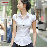 2016 Summer Tops Shirt Women Blouses Chiffon Shirt Clothing Lady Blouse Female Work Wear Shirts Short-Sleeved Tee