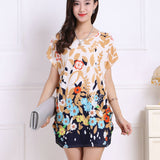 2017 spring summer women Dress Plus Size Women dresses short sleeve Loose Casual print tunic dresses big large 5xl