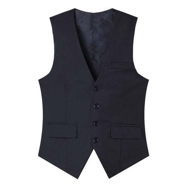 2017 Men's clothing 4 buttons Business Blazers Sleeveless Waistcoats Slim fit male Vests Formal Suits Vest Plus size M-3XL MQ220