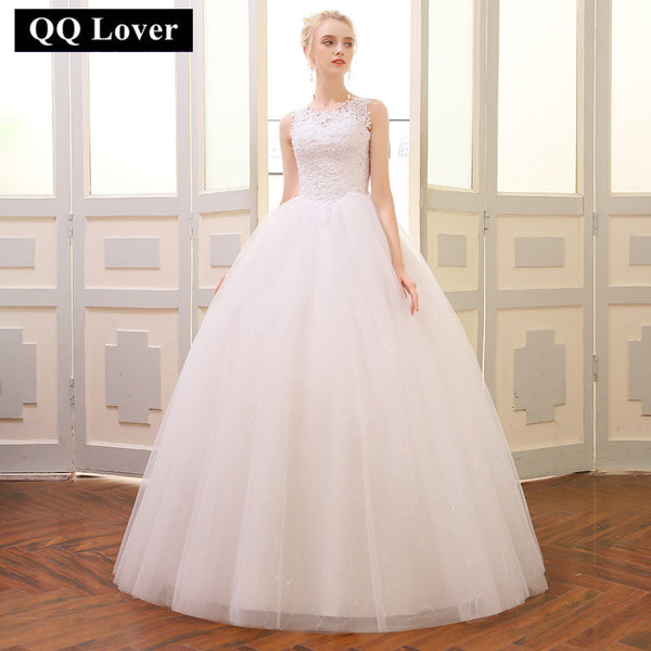 QQ Lover 2018 Ball Gown Wedding Dress 2018 Customized Plus Size Vestido De Novia Bridal Dress
