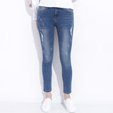 Ripped Jeans For Women Skinny Denim Capri Jeans Femme Stretch Female Jeans Vaqueros Mujer Slim Pencil Pants For Women GAREMAY