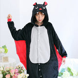 Special Offer Women's Animal Bat Pajamas Animal Full Sleeve Hooded Microfiber Pajama Sets Sleepwear Funny Pajamas Women
