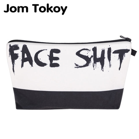Jom Tokoy 2018 cosmetic organizer bag Face Shit 3D Printing Cosmetic Bag Fashion Women Brand makeup bag
