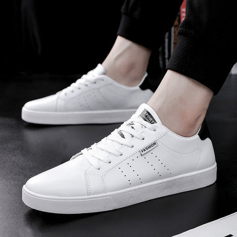 New 2018 Fashion Sneakers Men Casual Shoes High Quality Male Brand White Shoes Men's Sneakers Black ZHK140