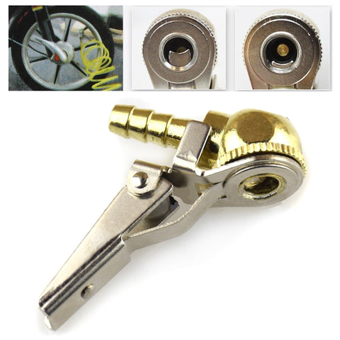 "1/4"" NPT Tire Air Chuck Inflator Gauge Brass Ball Auto Car Tire Inflator with Clip for Car Tire Repair Tools"