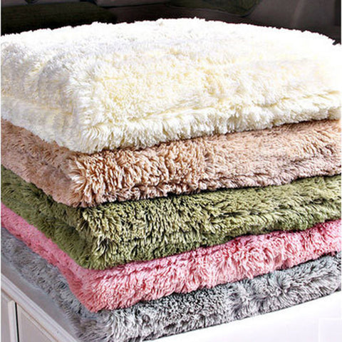 1 Piece Plush Sofa Cover Towel Fluffy Soft Slipcover Resistant Seat Couch Cover For Living Room Window Mats L-shaped Sofa Decor