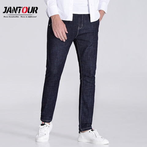jantour 2018 high quality Blue and black skinny jeans men Slim Casual Denim jean mans pantalon hombre fashion robin Pants male
