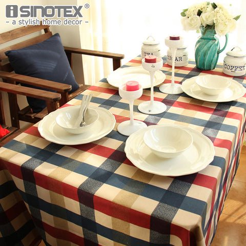 1 PCS/Lot High Quality Retro Stripes Plaid Cotton Table Cloth European Style Rectangular Table Cover for Hiking Party Home Decor