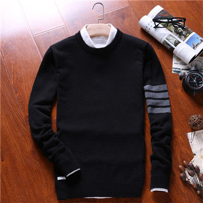 2017 new Fashion Brand Casual Sweater O-Neck Striped Slim Fit Knitting Mens Sweaters And Pullovers Men Jumpers Pullover Men