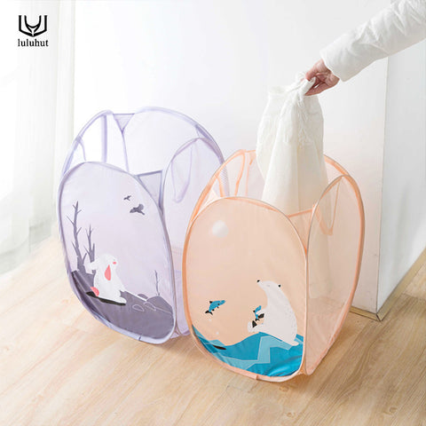 luluhut dirty clothes storage basket laundry bag for clothes socks bras folding cartoon large capacity storage basket home use