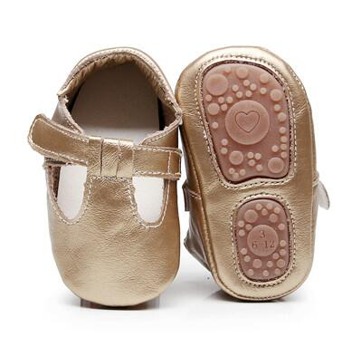 High quality mary jane style genuine Leather Baby Moccasins rubber sole Baby Shoes Newborn first walker T-bar Shoes 0-24M