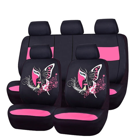 2018 New Fashion Chinese Facebook  Automobile Seat Covers Universal Car Styling Four Season Car Seat Covers Fit For 40/60 50/50