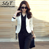 OL Blazer Autumn Spring Blazer feminino 2018 Women Blazers and Jackets Lapel One Button Long Sleeve Suit Outerwear 5 Colors