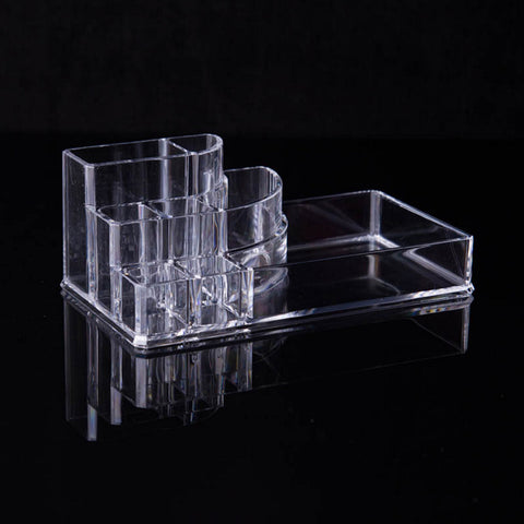 Makeup Brush Make Up Storage Organizer Box Shelf New Clear Acrylic Plastic Nail Polish Rack Lipstick Cosmetic Sample Holder