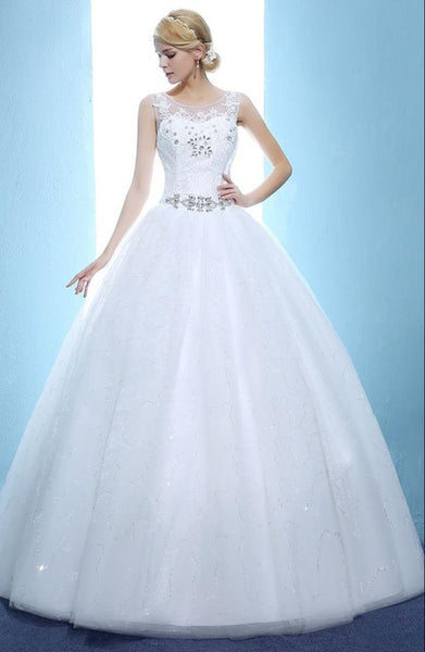New The Bride Dress Luxury See Through Wedding Dress Large Size Custom Made Wedding Dress 406