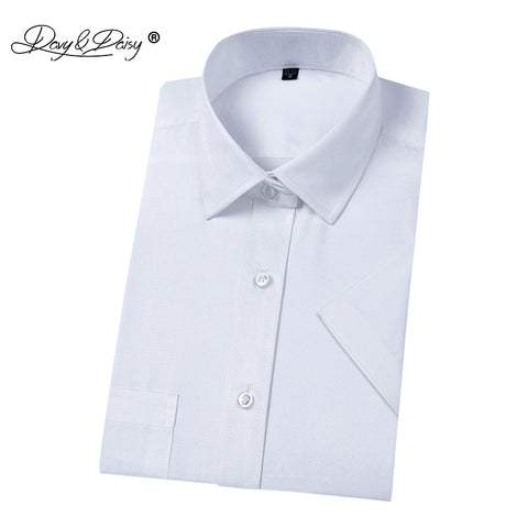 27f0d0f9046 DAVYDAISY Hot Sale 2018 Summer Men Shirt Turn Down Collar Short Sleeved  Simple Solid Brand Clothing ...
