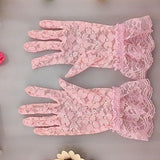1 Pair 2018 New Arrival Party Driving Sexy Women Lady Lace Gloves Mittens Accessories Girl's Flower Side Sunproof Ritual Glove