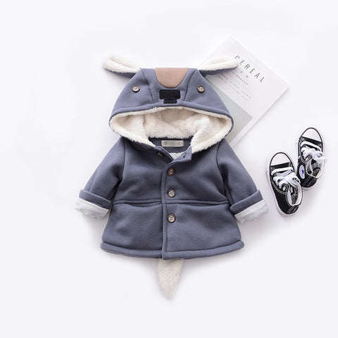 Baby boy children's clothing thick autumn and winter new boys and girls cartoon jacket newborn baby girl out fashion coat  L541