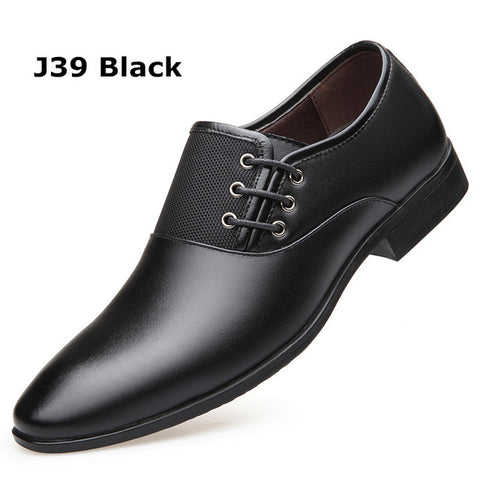 Misalwa Men's Dress Shoes Formal Shoes Size 38-47 Classic Point Toe Oxfords Men Fashion Men Business Party Shoes Drop Shipping