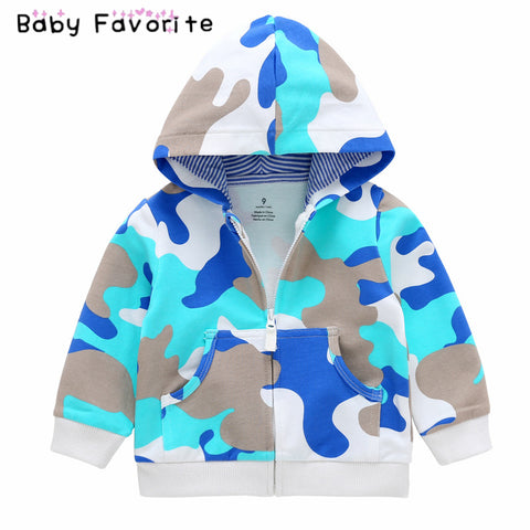 Baby Favorite Newborn Boy Girl Clothes Hoodies & Sweatshirts Print Coat Zipper Cotton Spring Autumn Sweatshirt Outfits Bebek