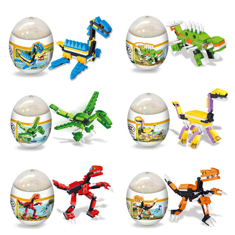 Dinosaur Toys Kids Assembly Models Child Developmental Puzzel Dinosaur Eggs Toys for Children Gift Random Color