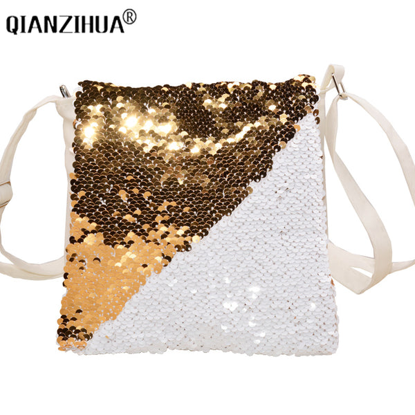2018 Fashion Change Colors Small Women Leather Crossbody bag For girl Shoulder bag Sequined Messenger bag Clutch Handbag Purses
