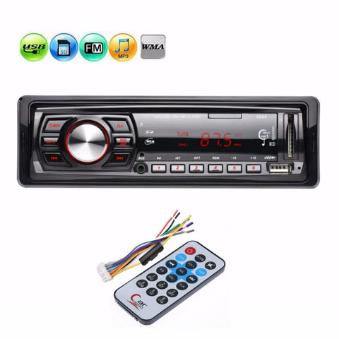 12V 1 Din 1din Car FM Radio Stereo Audio MP3 Player Auto 3.5mm AUX Music Player Support USB SD MMC Card Remote Control Autoradio