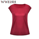 WWENN 2018 Summer Women Chiffon Blouse Plus Size 4XL Short Sleeve Shirt Casual Loose Tops Women Silk Clothing Blusa Feminina