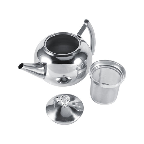 1.5L Stainless Steel Tea Pot and Coffee Drip Kettle Pot Teapot With Strainer Stainless Steel Kettle Hot Water For Barista