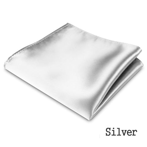 1/2 PC Hot Sale New Men's Formal Satin Solid Plain Color Handkerchief Hanky Pocket Square Wedding Party