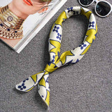 New 70*70 Silk Squares Women Painting Bag Decorative Pattern Twill Scarf Fashion Small Scarve Girl Shawl High Quality