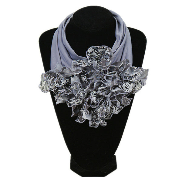 2018 New Floral Collar Scarf Luxury Brand Scarf Women New Fashion Neckerchief Ring Scarves Neck Scarf For Ladies