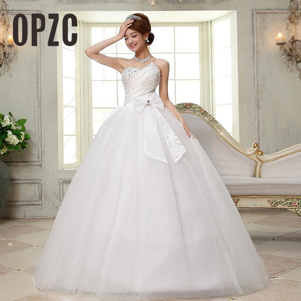 Real Photo vestido de noiva de 2017 New Arrival Luxury Organza Strapless With Bow Diamound Crystal Off The Shoulder Princess 24