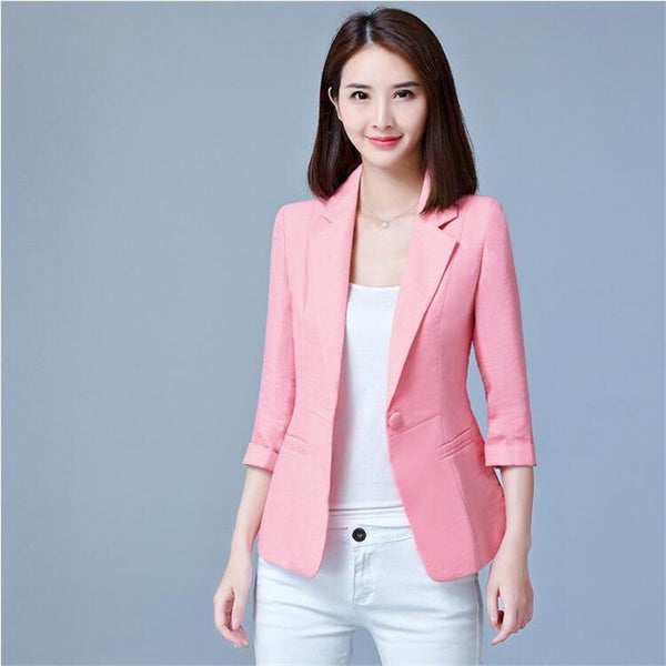 New Blaser Femenino 2018 Small Suit Jacket Female Spring Elegant Blazers Women Blazer Feminino Blazer Jacket Plus Size 5XL C4403