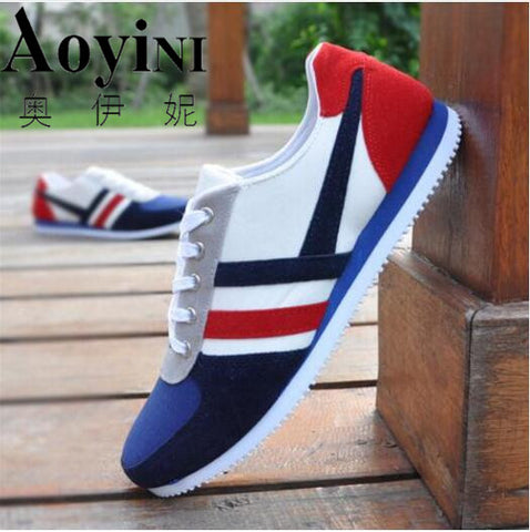 New 2018 Spring Autumn Fashion Canvas Lace-up Men Shoes Plimsolls Breathable Male Sneakers For Men Casual Shoes Big Size 39-44