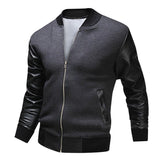 2017 New Baseball Uniform Jacket Fight Skin Warm Washed Leather Men's Clothing High Quality Casual Men Zipper Jacket Basic Coat