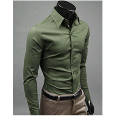 15 Colors Brand-clothing Camisa Social Masculina Long Sleeve Chemise Homme Slim Fit Men Shirt Business Casual Mens Shirt 10