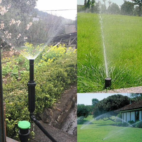 "1/2"" Adjustable 25-360 Degrees Plastic Popup Sprinklers Lawn Irrigation Watering Garden Supplies Lawn Irrigation Cooling"
