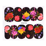 1 Sheets Blossom Colorful Flower DIY Cute Nail Art Water Transfer Sticker Nail Art Decoration Polish Gel Full Sticker TRWG