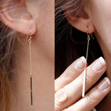1 pair New Fashion Punk Simple T Bar Earrings For Women Ear Stud Earrings Jewelry Geometry brincos bijoux 2018