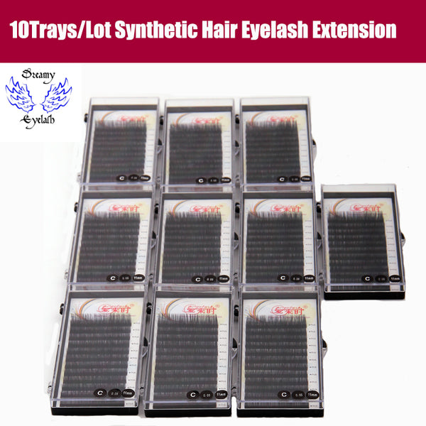 12 Lines Silk Volume Eyelash Extension Soft Natural Long Lashes B/C/D Curl Individual Eyelashes with Free shipping