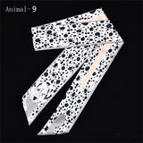12 Animals Cheetah Silk Scarf 2018 New Bag Scarf For Women Luxury Brand Foulard Women Tie Fashion Head Scarves For Ladies Girls