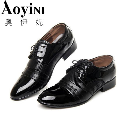 Men Dress Shoes Fashion Formal Wedding Shoes Mens Luxury Men'S Business Casual Classic Gentleman Shoes Man hommes